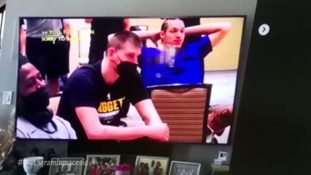 Reakcija Nikole Jokića kada su mu saopštili da je MVP je HIT