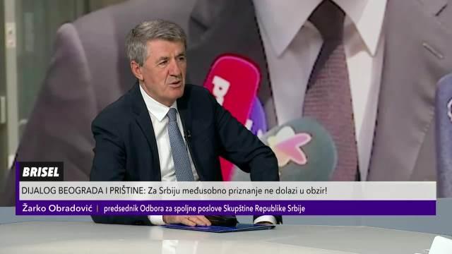 ŽARKO OBRADOVIĆ O RAZGOVORU PREDSEDNIKA SRBIJE I KURTIJA U BRISELU: Vučić je pokazao da Srbije želi dijalog!