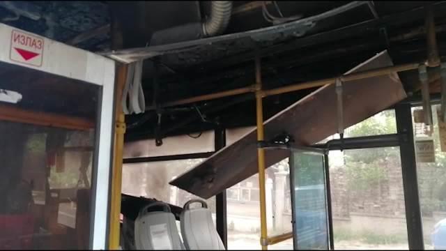 Izgoreo autobus na Zvezdari