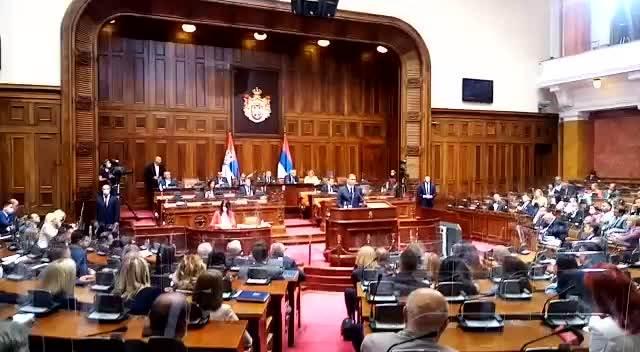 Predsednik Srbije obraća se u Skupštini