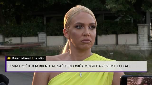 POPOVIĆ MI JE BIO KAO OTAC, SA BRENOM NISAM IMALA NIKAKAV ODNOS! Milica Todorović progovorila o Grandu: Zovem ga u pola noći!