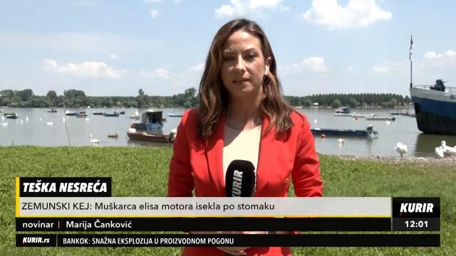 TEŠKA NESREĆA NA ZEMUNSKOM KEJU: Muškarac ispao iz čamca, elisa motora ga ISKASAPILA!