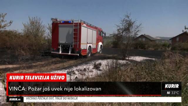 NOVI DETALJI POŽARA U VINČI: Kurir televizija nezvanično saznaje uzrok vatre EKSPLOZIJA na dalekovodu, izgorelo 10 hektara zemlje