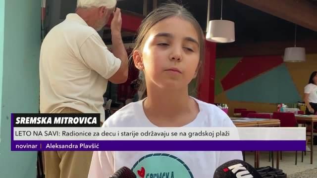 LETO NA SAVI: Radionice za decu i starije održavaju se na gradskoj plaži