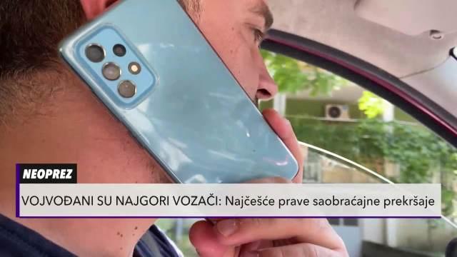 STANOVNICI OVE POKRAJNE NAJGORI VOZAČI U SRBJIJ! Gaze PUNU LINIJU, pričaju telefonom i NE POŠTUJU pešake!
