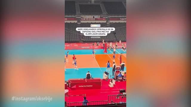 TI MOJE ZLATO SE ORI U TOKIJU! Srpske odbojkašice se spremale za meč uz Milicu Todorović, poznati HIT ZAGRMEO u HALI! (VIDEO)