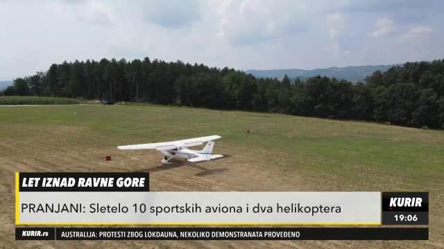 SPEKTAKL ZA MEŠTANE PRANJANA: Održani prvi panoramski letovi sportskih aviona!