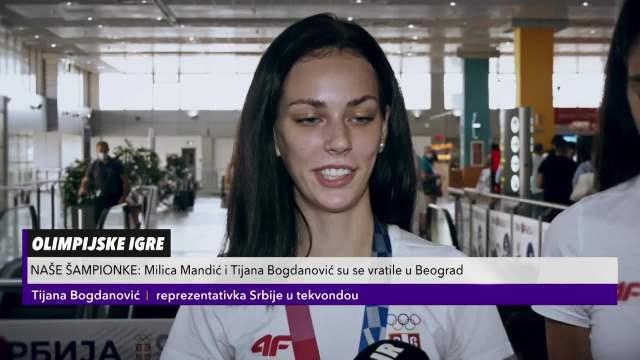 NAŠE ŠAMPIONKE: Milica Mandić i Tijana Bogdanović su se vratile u Beograd