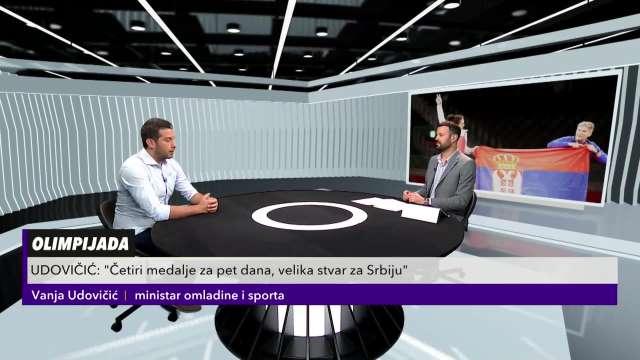 MINISTAR VANJA UDOVIČIĆ NA KURIR TELEVIZIJI: Srpski sport je mnogo napredovao, Miličino zlato me je emotivno pogodilo!