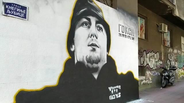 Mural  na Dorćolu posvećen ubijenom navijaču Goranu Veličkoviću Goksiju