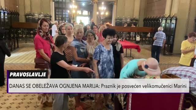VELIKI BROJ LJUDI SE OKUPIO U CRKVI: Mitrovčani obeležili Ognjenu Mariju!