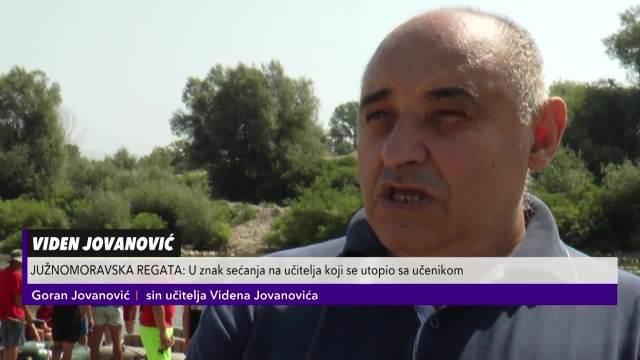 JUŽNOMORAVSKA REGATA: U znak sećanja na učitelja Videna Jovanovića koji se utopio sa učenikom