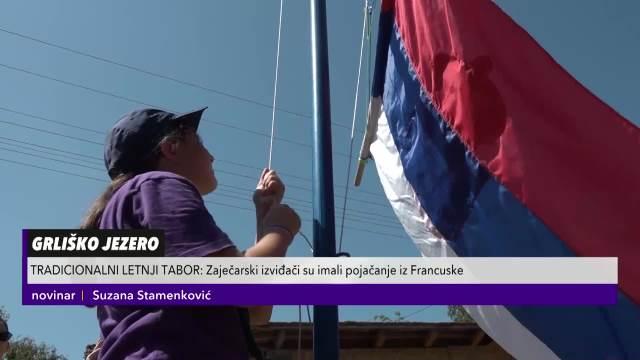 IZVIĐAČI NA OBALI GRLIČKOG JEZERA: Kao nekad diže se zastava, a najmleđi uče da vezuju čvorove!