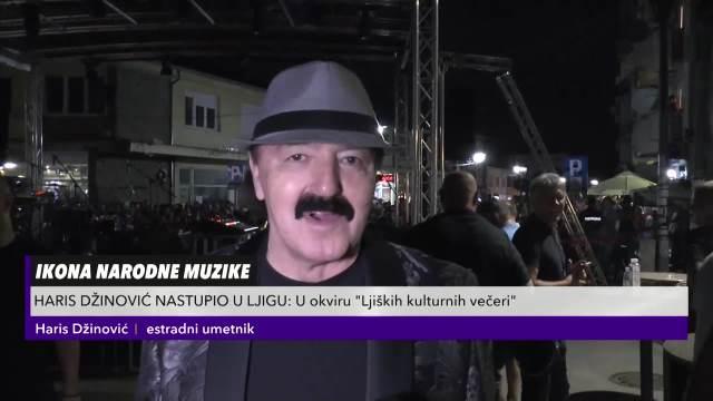 """HARIS DŽINOVIĆ NASTUPIO U LJIGU: Održao koncert u okviru tradicionalne manifestacije """"Ljiške kulturne večeri"""""""