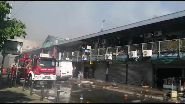 Požar u Kineskom tržnom centru u Bloku 70