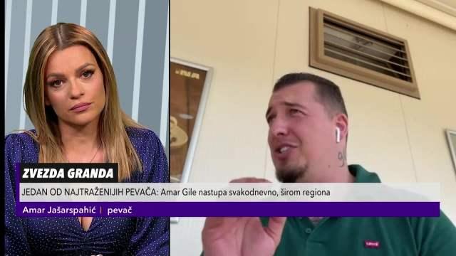 JELENA KOSTOV I AMAR GILE GOSTI NA KURIR TV: Pevač priznao da se JEDVA OTKAČIO nabacivanja jedne naše poznate RIJALITI UČESNICE!