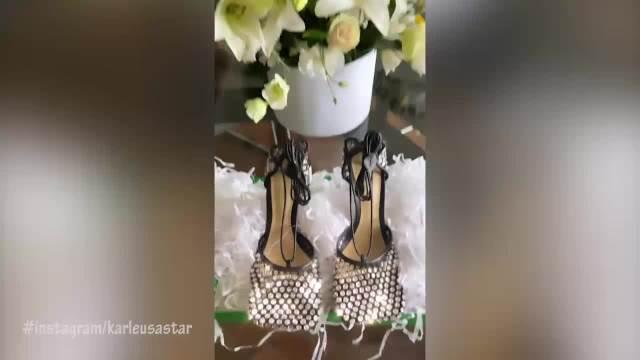OVOLIKO NOVCA ZA CIPELE MOŽE SAMO DA DA JK: Karleuša se pohvalila novim PAPRENO skupim sandalama: Štikla, koža i kristali!