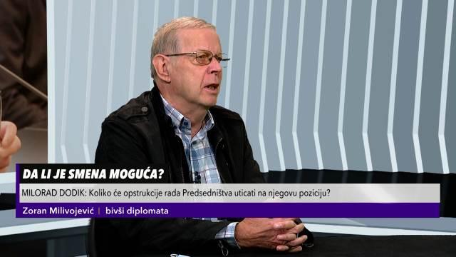 MILIVOJEVIĆ ZA KURIR TV O SMENI DODIKA: Neophodno je da političke elite nađu mehanizam za dijalog