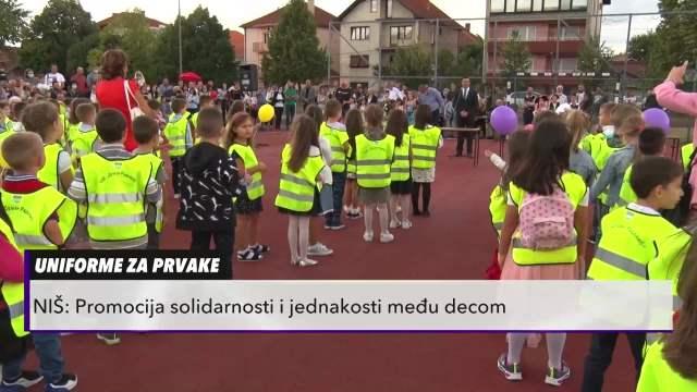 U NIŠU PRVACIMA PODELJENE ŠKOLSKE UNIFORME: Na ovaj način promoviše se solidarnost i jednakost među decom