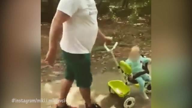 SUTRA TATA PUTUJE! Emotivan snimak Mikija Đuričića sa ĆERKICOM i suprugom pred ULAZAK u Zadrugu 5 raznežio MNOGE! (VIDEO)
