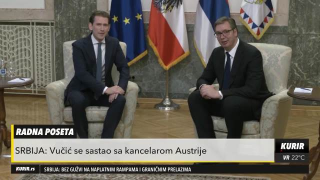 PREDSEDNIK VUČIĆ S KANCELAROM AUSTRIJE