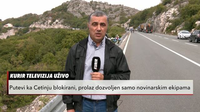 GORI BARIKADA NA ULAZU U CETINJE! Kurir televizija blizu mesta događaja: Oko manastira HAOTIČNO, čuju se eksplozije