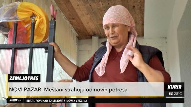 ZEMLJOTRES U NOVOM PAZARU: Meštani strahuju od novih potresa