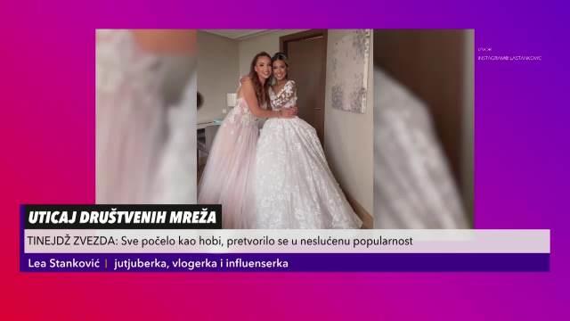 NIJE U REDU DA SE JA TOLIKO KOMENTARIŠEM, A NE MLADENCI: Lea Stanković stavila tačku na polemiku o HALJINI koju je nosila kao kuma