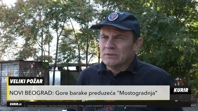 KURIR TELEVIZIJA NA NOVOM BEOGRADU: Brzom intervencijom vatrogasaca lokalizovan požar