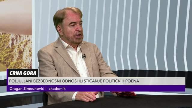 Simeunović o faktorima koji su uticali na odnose Srbije i Crne Gore