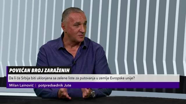 MILAN LAINOVIĆ IZ JUTE ZA KURIR TV! U narednom periodu bez vakcine neće moći NIGDE u EVROPU