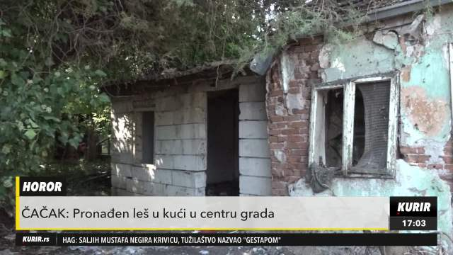 HOROR U ČAČKU: U kući blizu centra grada pronađen leš