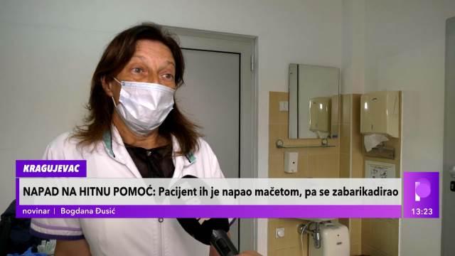 DIREKTORKA HITNE POMOĆI U KRAGUJEVCU O NAPADU:  Pacijent se osvestio, utrčao u kuću i izašao sa MAČETOM