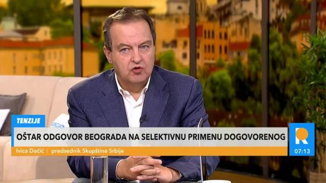 PREDSEDNIK SKUPŠTINE IVICA DAČIĆ U JUTARNJEM PROGRAMU: Pitanje Kosova treba da reši u međunarodnim institucijama
