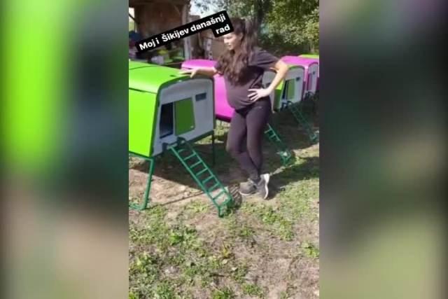 MARIJA PETRONIJEVIĆ POKAZALA TRUDNIČKI STOMAK: Evo kako izgleda u 8. MESECU, glumica NE ODUSTAJE od poslova u svom selu! (VIDEO)