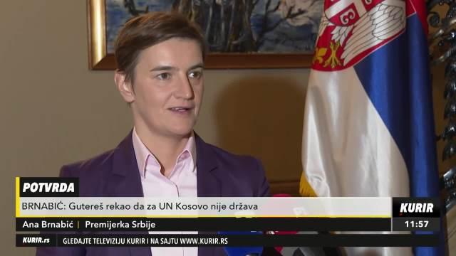 BRNABIĆ: Gutereš rekao da za UN Kosovo nije država