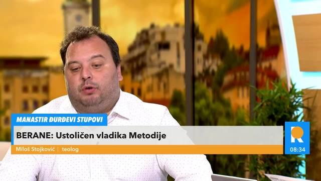 MILOŠ STOJKOVIĆ TEOLOG: U Beranama je pravoslavna Crna Gora pokazala svoje pravo lice