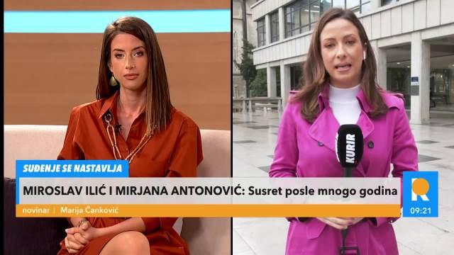 KURIR TELEVIZIJA NA LICU MESTA: Miroslav Ilić i bivša ljubavnica Mirjana Antonović u sudu! Evo šta je advokat rekao
