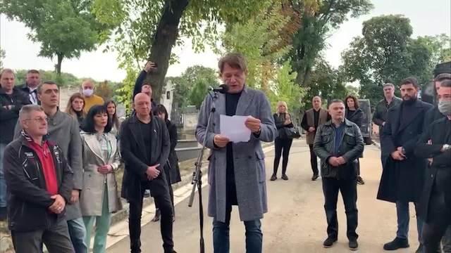 Dragan Bjelogrlić održao govor na godišnjici smrti Tome Zdravkovića