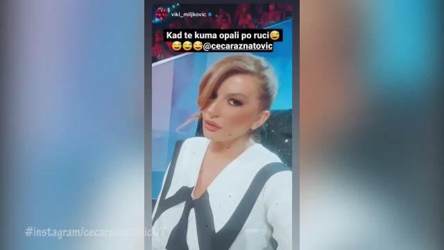 KAD TE KUMA OPALI PO RUCI! Ceca prekinula Viki dok se snimala za Instagram, i PRASNULA u smeh: Hit snimak završio na mrežama VIDEO