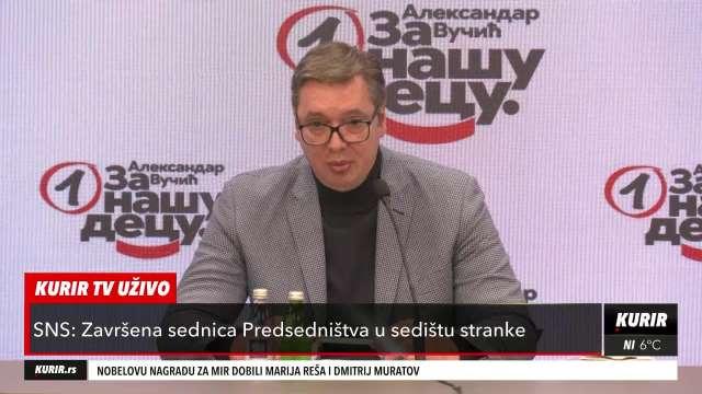 PREDSEDNIK VUČIĆ: SNS će o Stefanoviću govoriti između sebe, organi da rade svoj posao