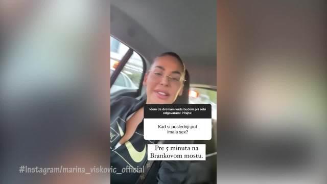 KAD SI POSLEDNJI PUT IMALA S*KS? Marina Visković odgovorila na bezobrazno pitanje i zapanjila: Pre 5 minuta! A evo i GDE!