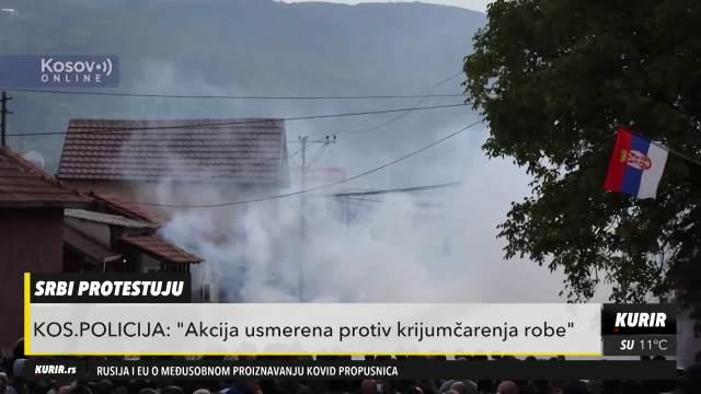 SUZAVCEM I ŠOK BOMBAMA NA SRBE: Vanredno u Kosovskoj Mitrovici