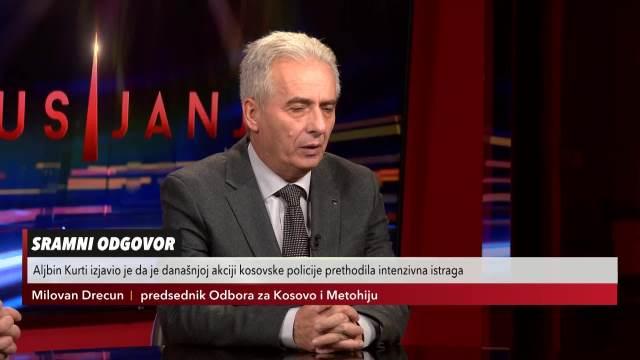 Milovan Drecun, predsednik Skupštinskog odbora za KiM o opasnostima na severu Kosova