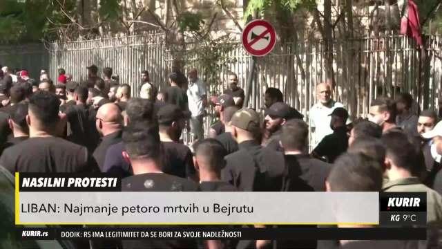 NASILNI PROTESTI U LIBANU: Najmanje petoro mrtvih u Bejrutu
