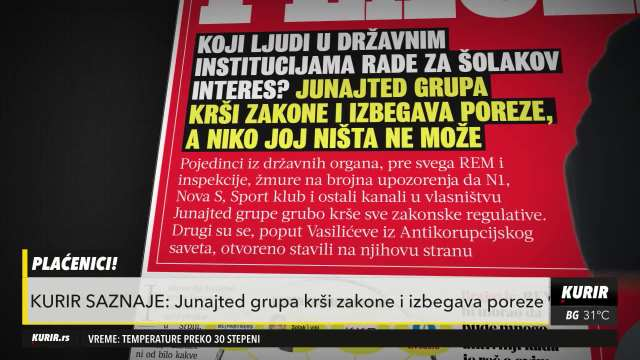 KURIR SAZNAJE: Junajted grupa krši zakone i izbegava poreze!