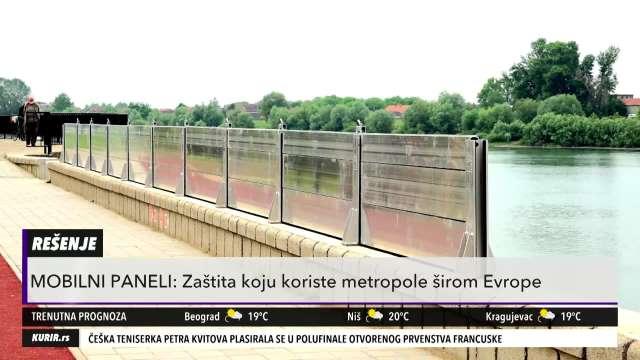 NOVI VID ODBRANE OD POPLAVA: Srbija ima moderne mobilne panele za zaštitu od nabujalih reka (KURIR TELEVIZIJA)
