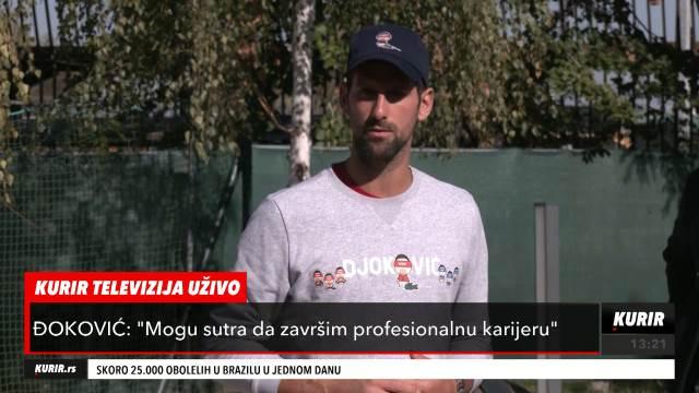 NOVAK ĐOKOVIĆ: Postoji žal zbog US Opena i Rolan Garosa, ali ipak igram tenis ŽIVOTA! (KURIR TELEVIZIJA)