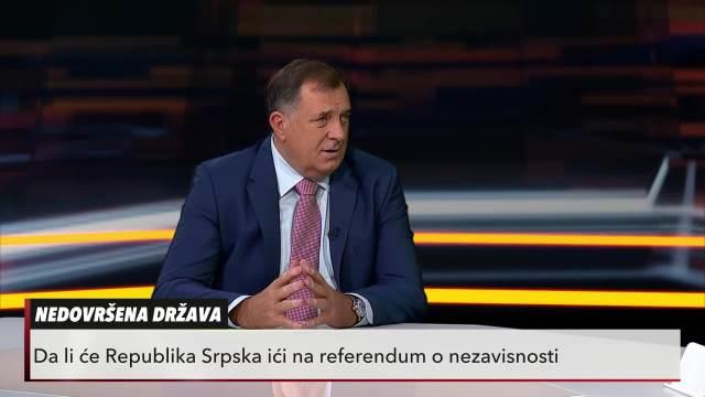 DODIK GOST USIJANJA: Bosna i Hercegovina je pogrešna zemlja (KURIR TELEVIZIJA)