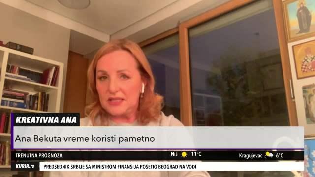 PODIGLA PRAŠINU O KORONI: Ana Bekuta nam je otkrila kako provodi VREME tokom pandemije! (KURIR TELEVIZIJA)